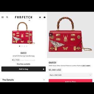 Gucci red small Ottilia limit edition